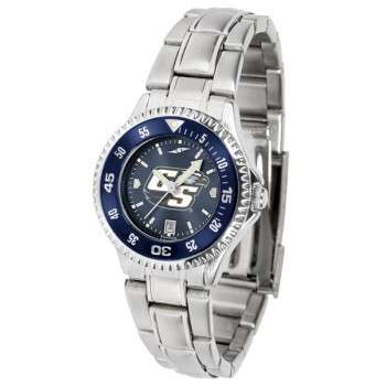 Georgia Southern University Eagles Ladies Watch - Competitor Anochrome - Colored Bezel - Steel Band