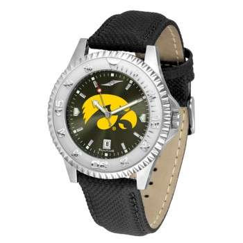 University Of Iowa Hawkeyes Mens Watch - Competitor Anochrome Poly/Leather Band