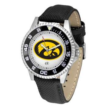 University Of Iowa Hawkeyes Mens Watch - Competitor Poly/Leather Band