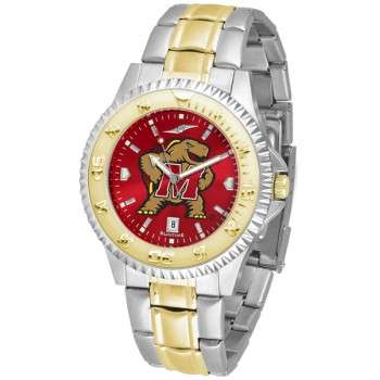 University Of Maryland Terrapins Mens Watch - Competitor Anochrome Two-Tone