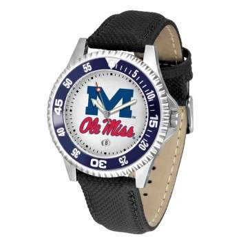 University Of Mississippi Ole Miss Rebels Mens Watch - Competitor Poly/Leather Band