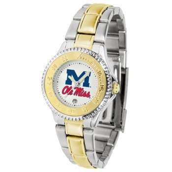 University Of Mississippi Ole Miss Rebels Ladies Watch - Competitor Two-Tone