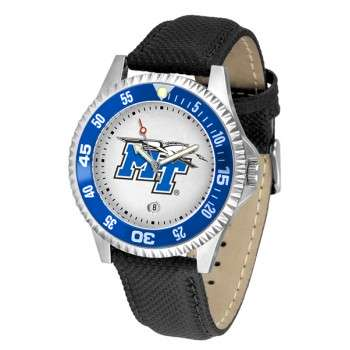 Middle Tennessee State University Blue Raiders Mens Watch - Competitor Poly/Leather Band