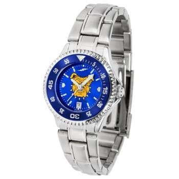 North Carolina A&T University Aggies Ladies Watch - Competitor Anochrome - Colored Bezel - Steel Band