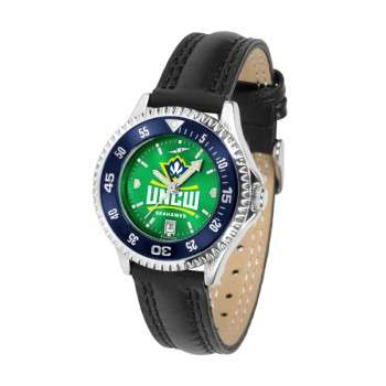 University Of North Carolina At Wilmington Ladies Watch - Competitor Anochrome Colored Bezel Poly/Leather Band