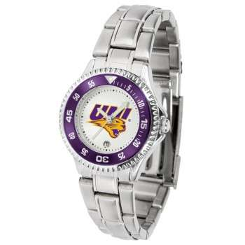 University Of Northern Iowa Panthers Ladies Watch - Competitor Steel Band
