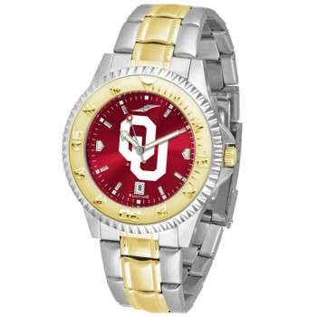 University Of Oklahoma Sooners Mens Watch - Competitor Anochrome Two-Tone