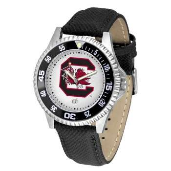 University Of South Carolina Gamecocks Mens Watch - Competitor Poly/Leather Band