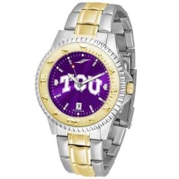 Texas Christian University Horned Frogs Mens Watch - Competitor Anochrome Two-Tone