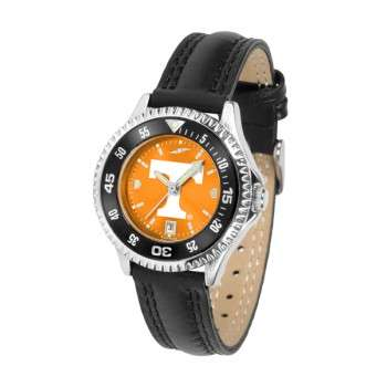University Of Tennessee Volunteers Ladies Watch - Competitor Anochrome Colored Bezel Poly/Leather Band