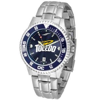 University Of Toledo Rockets Mens Watch - Competitor Anochrome - Colored Bezel - Steel Band