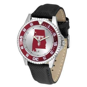 Troy University Trojans Mens Watch - Competitor Poly/Leather Band