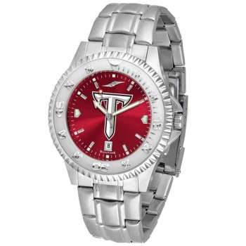 Troy University Trojans Mens Watch - Competitor Anochrome Steel Band