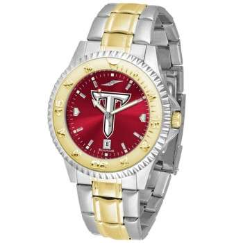 Troy University Trojans Mens Watch - Competitor Anochrome Two-Tone