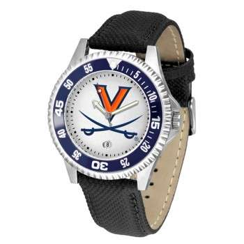 University Of Virginia Cavaliers Mens Watch - Competitor Poly/Leather Band