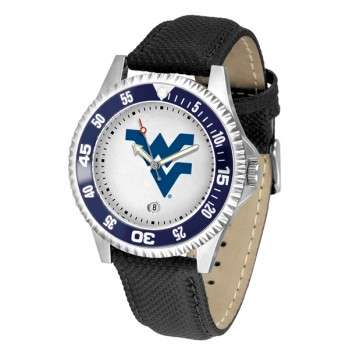 West Virginia University Mountaineers Mens Watch - Competitor Poly/Leather Band