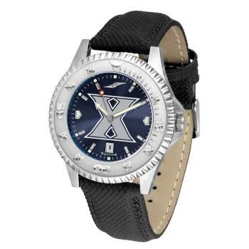 Xavier University Musketeers Mens Watch - Competitor Anochrome Poly/Leather Band